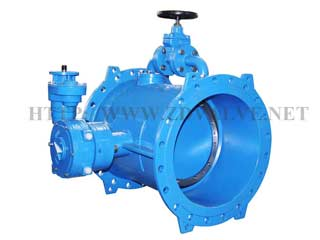 f5-double-flanged-eccentric-butterfly-valve-with-bypass-valve