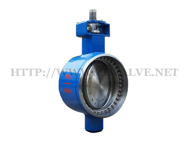 Triple eccentric metal seated butterfly valve
